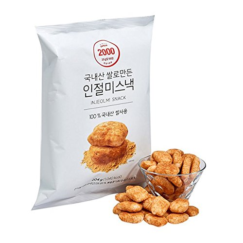 [Lotte Mart] Injeolmi snack 204g (7.2oz) / Korean traditional rice cake snack / bean flour snack / Soybean powder snack (overseas direct shipment)