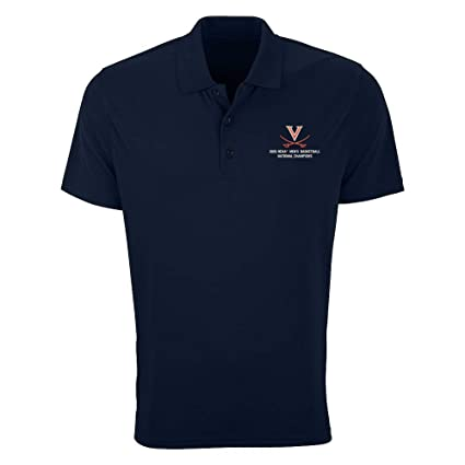 fdef99060e63 Elite Fan Shop UVA Virginia Cavaliers National Basketball Champions Polo  Shirt 2019 Navy - M