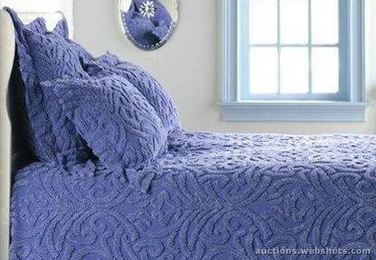 Dusty Blue Damask Chenille King Duvet Cover Amazon Co Uk Kitchen
