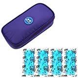 Insulin Cooler Travel Case, Diabetic Organizer - Keep Diabetics Insulated and Cool,Upgraded with 4 Ice Packs and Temperature Read Function (Purple)