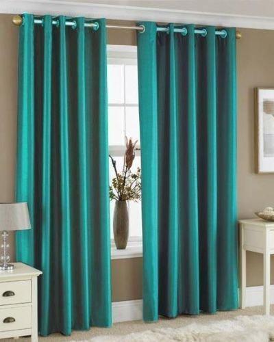 Wilko Faux Silk Eyelet Curtains Plum 167 X 137cm: Turquoise Eyelet Curtains