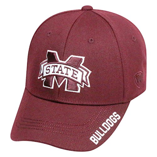 Top of the World NCAA-Premium Collection-One-Fit-Memory Fit-Hat Cap-Mississippi State Bulldogs