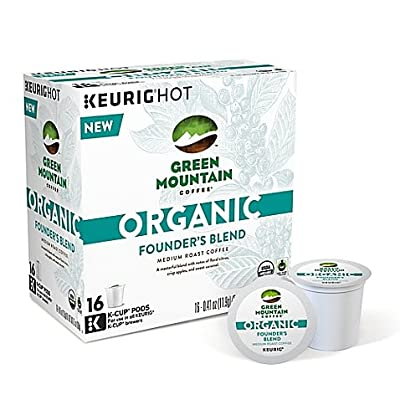 Green Mountain Coffee Organic Founder's Blend Keurig K-Cups, 16 Count