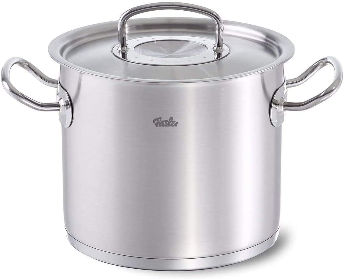 Fissler Original Profi Collection Innovative Stainless Steel Stew Cooking Pot Cookware with Cookstar Base, 5.5-Quart