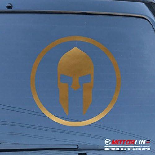 Spartan Mask Sparta Decal Sticker Car Vinyl pick size color Molon Labe roundel