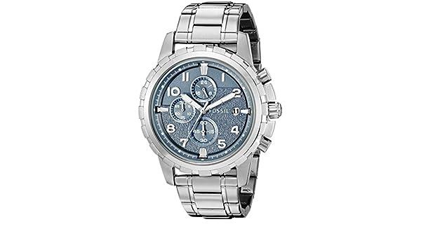 Fósil de hombre fs5023 Dean analógico de cuarzo plateado Reloj: Fossil: Amazon.es: Relojes