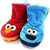Sesame Street Elmo Cookie Monster Kids Reversible Boot Slippers