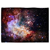 SXCHEN Table Cover Waterproof Linen Washable Polyester Tablecloths Beautiful Starry Sky Galaxy Universe Planet 51 x 66 Inch