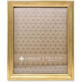 lawrence frames sutter burnished picture frame 8 by 10 inch gold