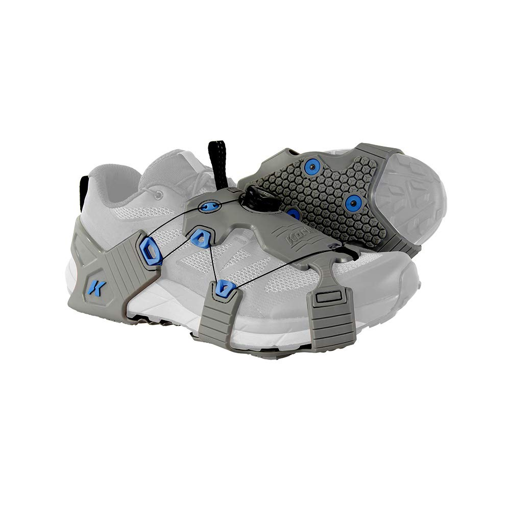 Korkers Unisex Grey/Aqua Ice Runner Ice Cleats, L/XL by Korkers
