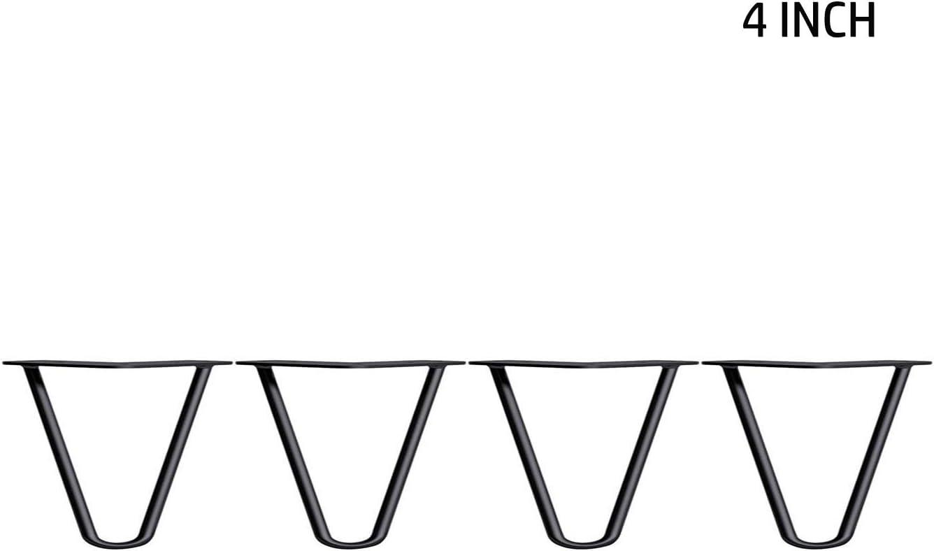 Choix de couleur tige et hauteur Lot de 4 pieds de table r/ésistants en /épingle /à cheveux avec vis et pieds de protection