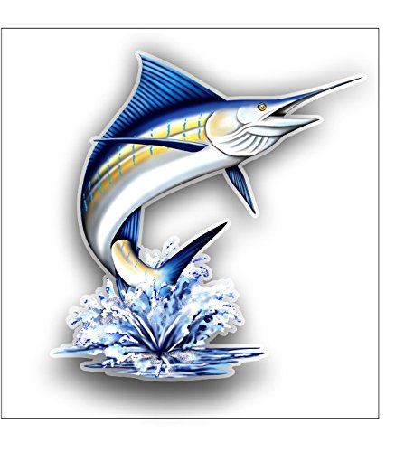 Jumping Marlin Sticker   Decal   Free Shipping