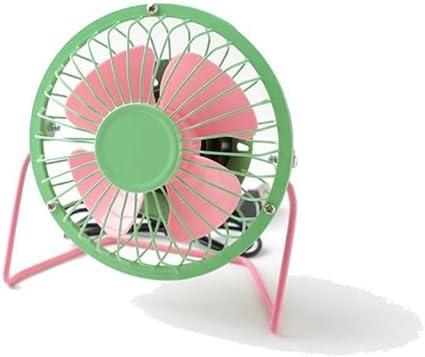 prbll Dibujos Animados Animal USB Ventilador de Hierro Forjado 4 Pulgadas Mini Ventilador de Metal Hoja de Aluminio Estudiante Ventilador Ultra silencioso: Amazon.es: Electrónica
