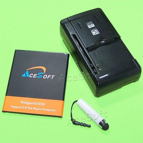 (AceSoft 3900mAh Extra Standard Li-ion Battery Universal Desktop Wall USB Charger Stylus for Samsung Galaxy J7 SM-J700T Cellphone)