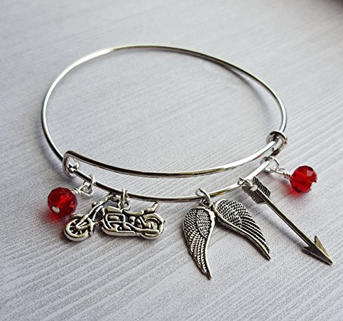 The Walking Dead Daryl Dixon Charm Bracelet]()