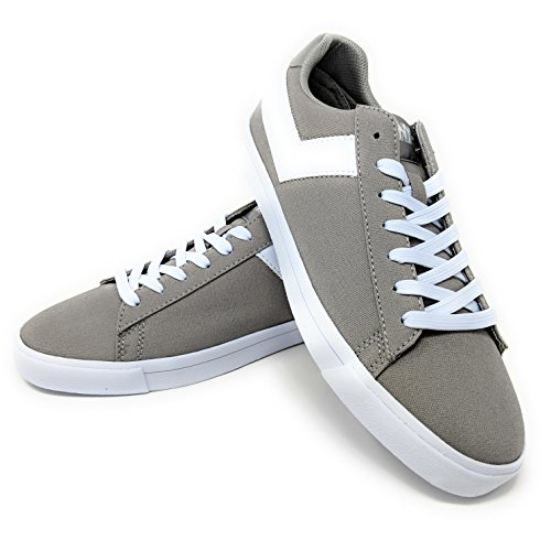 White Low Star Sneakers Grey M Canvas Core Top Mens 13 Lace Up CVS Pony af4UWWP