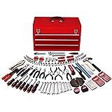 Apollo Precision Tools DT6803  Mechanics Tool Kit in Three Drawer Steel Tool Box, 297 Piece