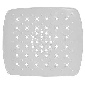 """Home Basics Kitchen PVC Sink Mat, White (11"""" x 13"""")"""