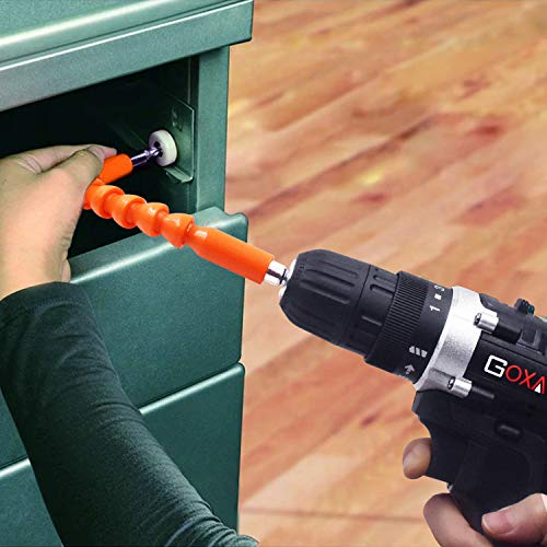 Cordless Drill with 2 Batteries - GOXAWEE Electric Screw Driver Set 100pcs (Max Torque 30Nm, 2-Speed, 10mm Automatic… 5