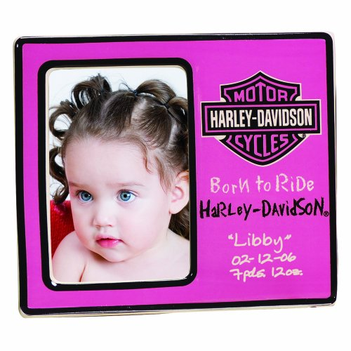 The Memory Company Harley Davidson Born to Ride Ceramic Frame, Pink