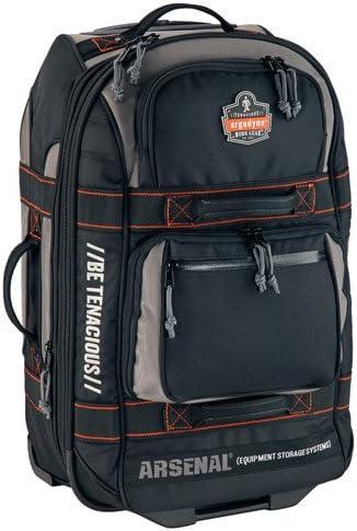 Ergodyne Arsenal 5125 Carry-On Luggage, Rolling, Retractable Handle, Black