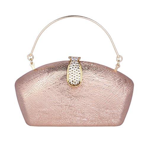 Wedding Elegant Handbag Pearl Clutch Champagne Bag Womens Evening Embedded Damara B7XFHF