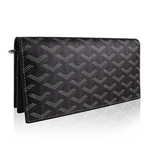 Stylesty Genuine Leather Long Wallet for Women, Trifold Large Capacity Long Purse