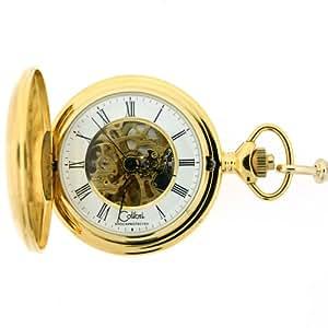 Colibri Mechanical Pocket Watch Skeleton White Dial PWS099013