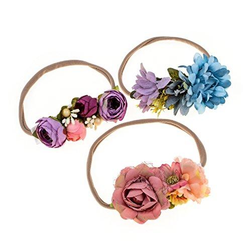 Love Sweety Baby Flower Crown Newborn Birthday Headband Floral Hair Wreath (3#)