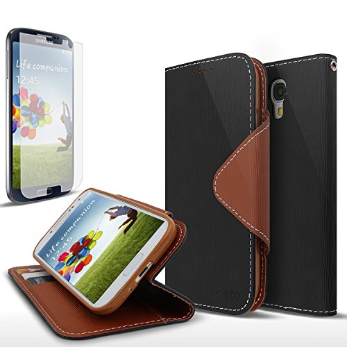 [S4 Active] Cellto GPL Samsung Galaxy S4 Active Premium Wallet Case with [Slim Ultra Fit] [Black Brown] Diary Cover /w ID Pocket Top Quality for Galaxy S IV Galaxy SIV i9500