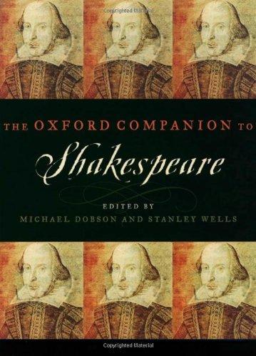 The Oxford Companion to Shakespeare