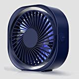 USB Personal Fan, Office Fan USB Power Fan Ultra-Quiet Third Gear Speed Mini Fan for Office Desktop Car