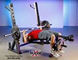 XMark International Olympic Weight Bench with Leg and Preacher Curl Attachment XM-4424.1