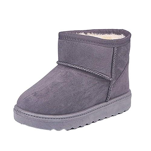 Zapatos Calientes Botas De Nieve Térmico Botines Planos Espesar para Bebés Niños Niña Gris 34.5 EU: Amazon.es: Zapatos y complementos