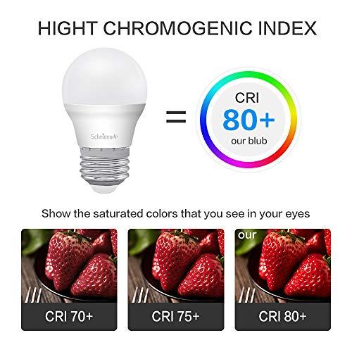 G45 LED Light Bulbs A15 6Watt 40w Equivalent 5000K Daylight 480 Lumens Frosted Refrigerator Globe Shape E26 Standard Base(6 Pack)by Scheinenda