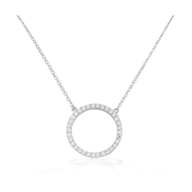 925 sterling silver circle of life white cz pendant necklace my 925 sterling silver circle of life white cz pendant necklace aloadofball Image collections