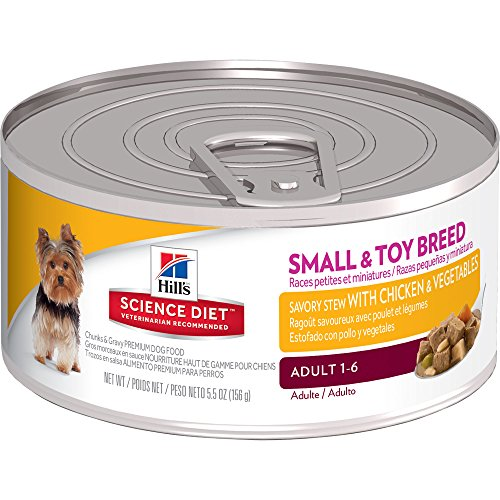 Hill's Science Diet Adult Small & Toy Breed Savory Stew with Chicken & Vegetables Canned Dog Food, 5.5 oz, 24-pack