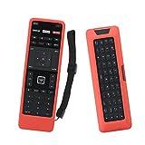 SIKAI Remote Case for Vizio XRT500 Smart TV Remote [Eco-Friendly] Case for VIZIO Smart LCD LED TV Remote Control [Shock Proof] Silicone Cover for Vizio XRT500 Remote with Lanyard (Red)