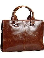 BAIGIO Business Briefcase Faux Leather Satchel 13 Inch Laptop Shoulder Bag