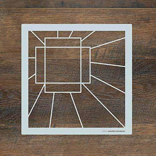 - Sunburst Recipe Layout Template by Creative Memories Mylar Stencil 12x12 Scrapbook Tool