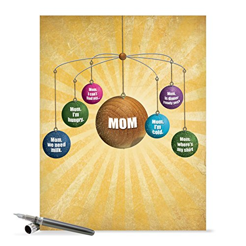 J0208 Jumbo Funny Mother's Day Card: Where Is Mom With Envelope (Extra Large Version: 8.5'' x 11'')
