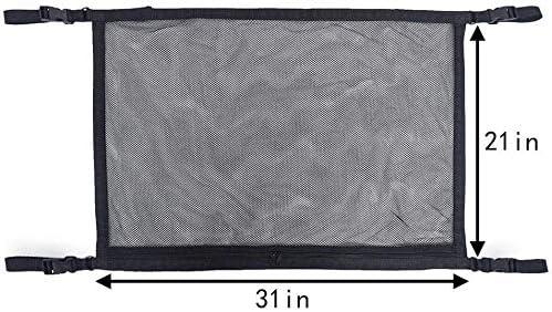Cargo Net Organizer Universal Car Roof Interior Cargo Net Bag with Zipper,Car Trunk Storage Organizer Sundries Storage Bag for Jeep Van SUV AKAMAS Car Ceiling Storage Net Pocket