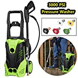 3000 PSI Electric High Pressure Washer Machine 1.8 GPM 1800W Sprayer Cleaner Machine with 5 Quick-Connect Spray Nozzles [US STOCK] (3000PSI)