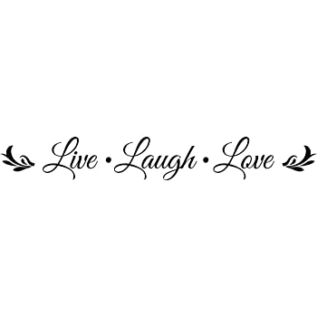 Amazon.com: LIVE LAUGH LOVE Vinyl wall quotes stickers ...