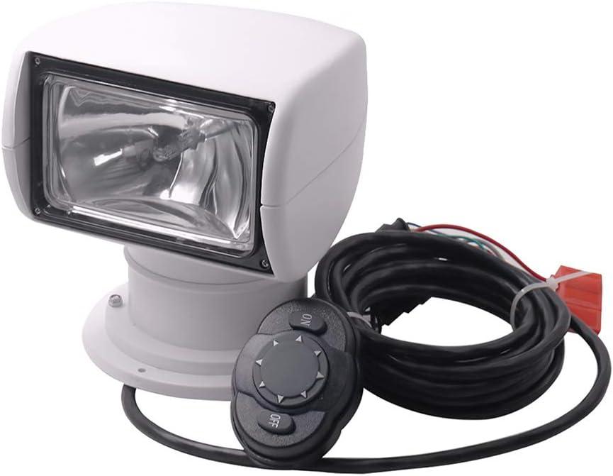 SDENSHI Boat Remote Control Spotlight Truck Marine Remote Searchlight 12V 100W Bulb