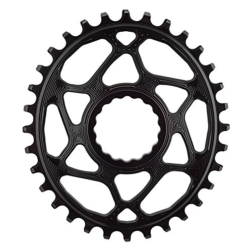 ABSOLUTE BLACK Race Face Oval Cinch Direct Mount Traction Chainring Black, 32t