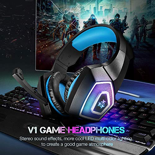 Gaming Headset with Mic for Xbox One PS4 PC Switch Tablet Smartphone ... 66626bfee7