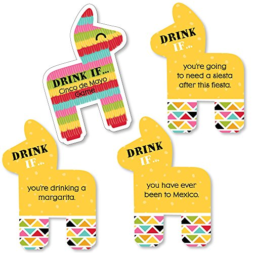 Drink If Game - Cinco de Mayo - Drink If Mexican Fiesta Party Game - 24 (Cinco De Mayo Party Games)