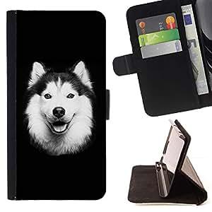 Momo Phone Case / Flip Funda de Cuero Case Cover - Malamute de Alaska perro del border collie; - Samsung Galaxy S6 Active G890A