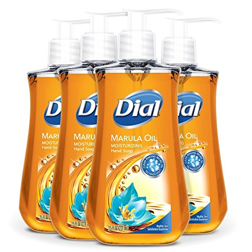 Dial Liquid Hand Soap, Marula Oil, 7.5 Ounce (Pack of 4) by Dial